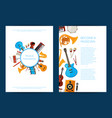 cartoon musical instruments card or flyer vector image vector image