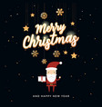 christmas greeting card with christmas santa claus vector image