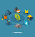 clean planet round composition vector image vector image