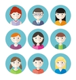 Color avatars teenagers vector image
