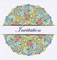 colorful invitation card vector image