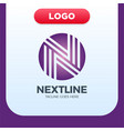 creative letter n logo design template linear vector image