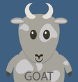Cute grey goat cartoon flat icon avatar vector image