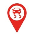 danger road location pin isolated icon design vector image vector image