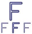 Dark blue f logo design set vector image vector image