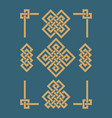 edless chinese knots set vector image vector image