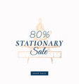 eighty percent stationary autumn sale abstract vector image vector image
