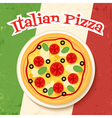 flag and pizza vector image vector image