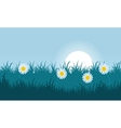 Flower and grass of landscape vector image vector image