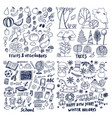 Four layouts sample fruits trees school holiday
