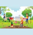 gardening kids vector image