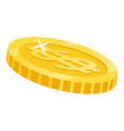 golden dollar coin symbol american currency vector image vector image