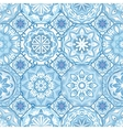 Gorgeous floral tile design vector image