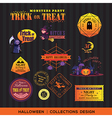 Halloween symbols Labels and frames vector image vector image