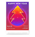 happy new year holidays poster with christmas vector image vector image