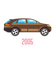 hatchback car 2005 model isolated icon vehicle vector image