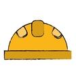 helmet protective head construction security vector image vector image