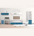 keeping room apartment composition vector image vector image