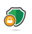 lock shield icon vector image