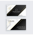 luxury business card with marble texture vector image vector image