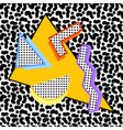 memphis composition 80s vector image
