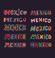 mexico lettering elements mexican typography vector image vector image