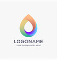 modern geometric colorful water drop logo icon vector image