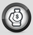 money sac icon vector image