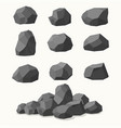 pile of stones graphite coal vector image