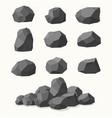 pile stones graphite coal vector image vector image