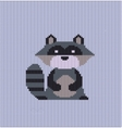 Raccoon knitted vector image vector image