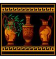 red greek jugs vector image