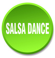 salsa dance green round flat isolated push button vector image vector image