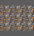 seamless pattern repair and construction vector image
