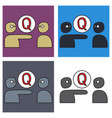 set of logo quora website icon social media vector image vector image
