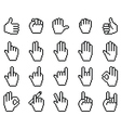 Set of unusual pixelated hand icons vector image