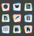 set simple education icons vector image