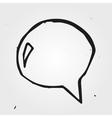 speech cloud hand drawn vector image