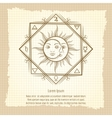 Sun and moon on vintage background vector image vector image
