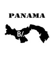 symbol of isle of panama and map vector image vector image