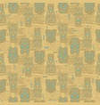 tiki seamless pattern vector image vector image