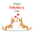 valentines day holiday card dog vector image vector image