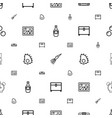 vintage icons pattern seamless white background vector image vector image