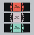 Vintage set labels vector image vector image