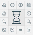 web icons set collection of hourglass refuse vector image vector image