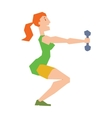 Young girl with dumbbells healthy workout gym vector image vector image