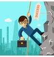 Way success Businessman aspires to leadership vector image