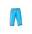 flat blue denim jeans warm pullover vector image