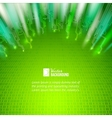 Abstract green lights background vector image vector image