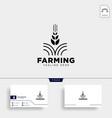 agriculture farm line badge vintage logo template vector image
